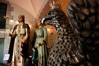 Gegants dins del Palau de la Virreina