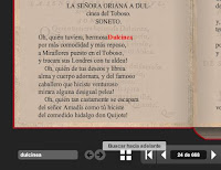 Búsqueda de Dulcinea en el texto del Quijote de Cervantes