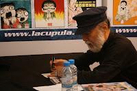 Maestro Hideshi Hino firmando autógrafo en el Salón del Manga 2010 Barcelona