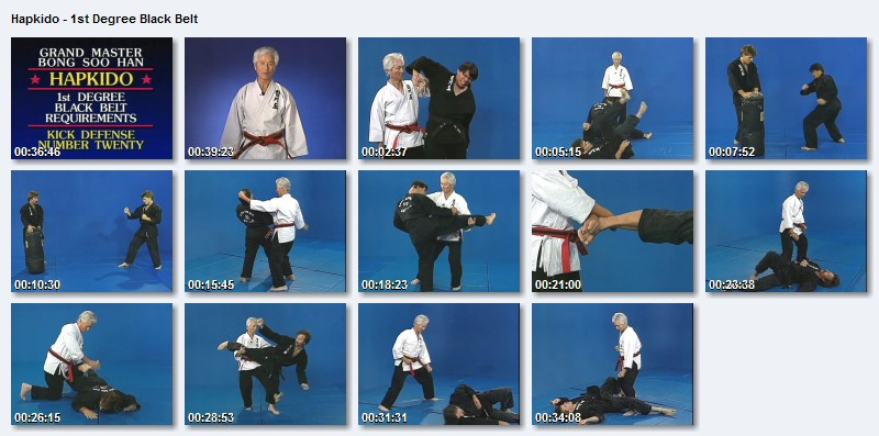 Martial Arts & Sports Video: Hapkido Bong Soo Han 9 Belt Grading DvD