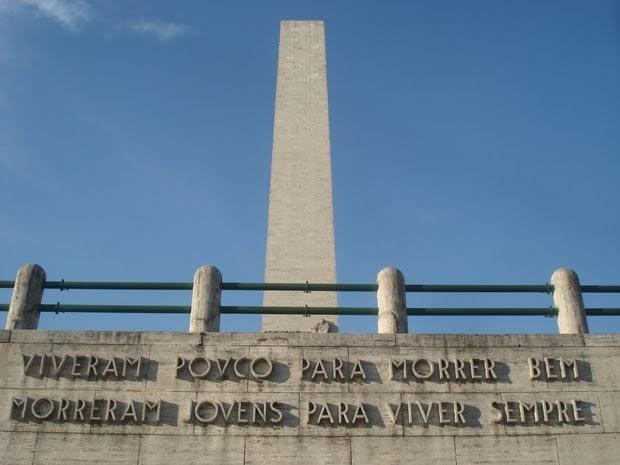 Obelisco de São Paulo relembra os soldados da Revolução Constitucional de 1932