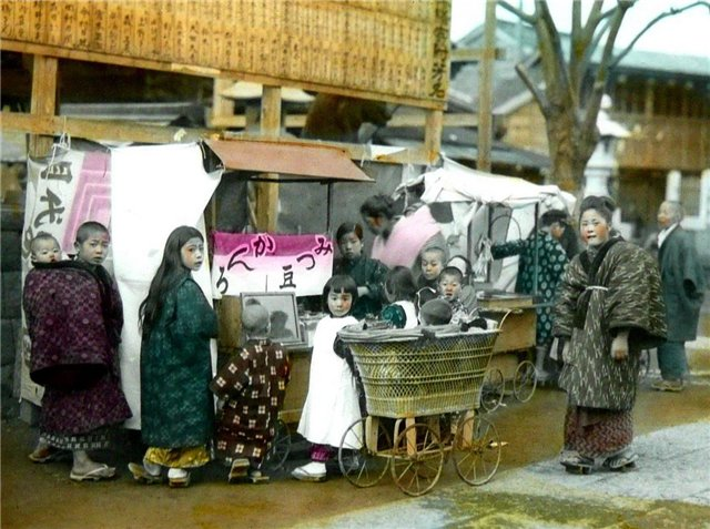 Японские старинные фотографии конца 19 века