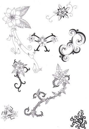 tattoos of flowers on hip. flower tattoo hip.