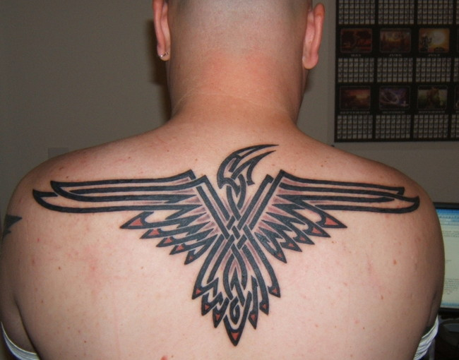 eagles tattoos. eagle back tattoos
