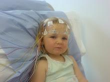 Olivia having her EEG