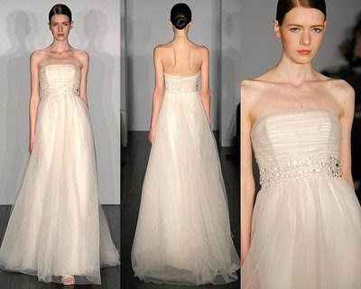 Brides Bridal Design Wedding Gown with the slick toucha touch of color from