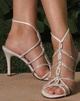 Beautiful Wedding Shoes with  Swarovski Crystal