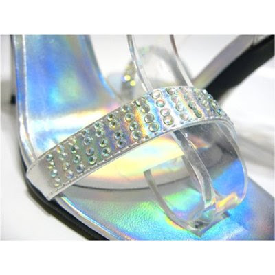 High Heels Silver Glossy Wedding Shoes