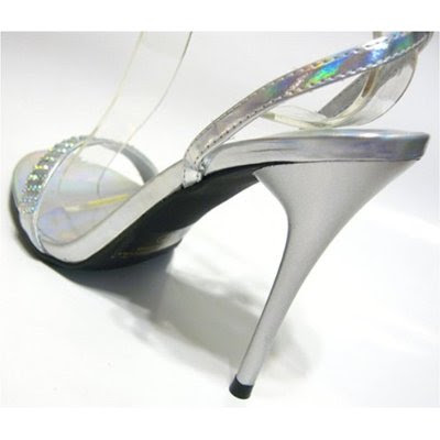 Silver Glossy Wedding Shoes
