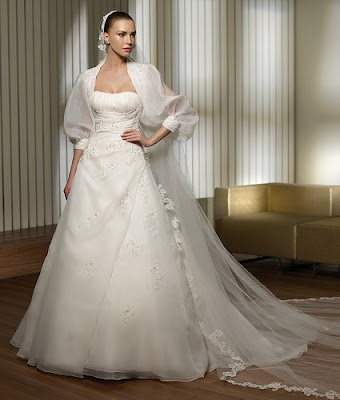 The Wedding Gown Dresses with Satin and Silk.