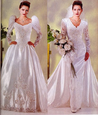 The Wedding Gown Luxurious Silk.