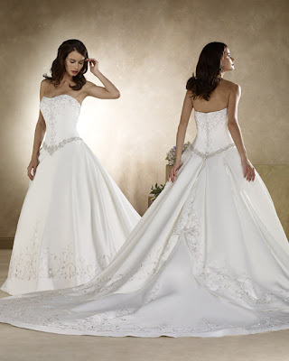 Long Tails as in the Style Wedding Gown