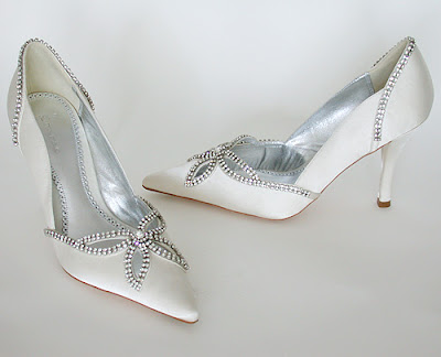 Wedding Shoes with rhinestone