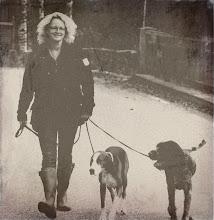 Jag och några av våra hundar