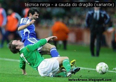 futebol, ninja, técnicas