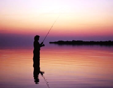 FISHING AT TWILIGHT