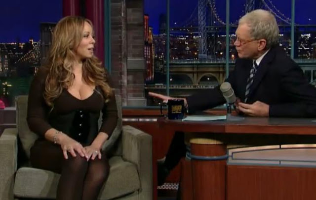 Boobilicious Mariah Carey Talks To David Letterman About Her Role In Horror Movie