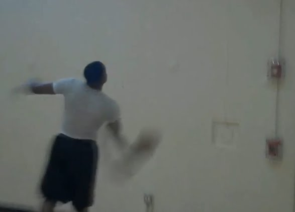 Andre Iguodala Trick Shot Off The Wall
