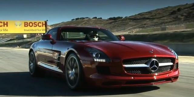 Mercedes SLS AMG Time Attack Laguna Seca