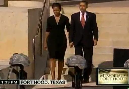 President Obama And First Lady Arrive Fort Hood Memorial Service