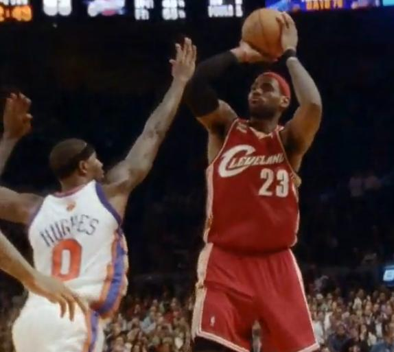 Lebron James Fade Away In MSG 2010