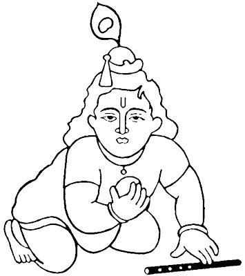 Krishna Coloring Page