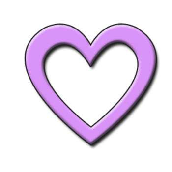 lovender heart clip art