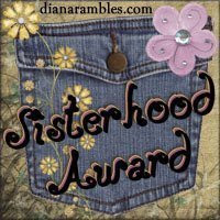 Este blog ha sido premiado por: SISTERHOOD AWARD