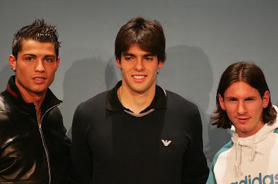 Ronaldo, Kaka, Messi