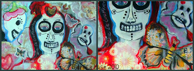 Mixed Media Painting Day of the dead