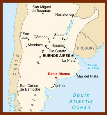 Rugby World Cup Argentina Bahia Blanca Estadio Roberto - Argentina map bahia blanca