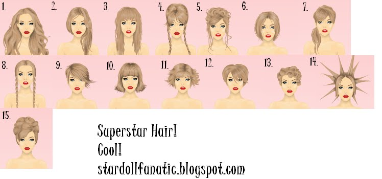 Stardoll Fanatic: 15 new superstar hairstyles!