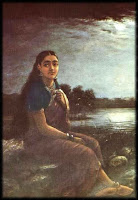 Raja Ravi Verma's Lady in Moonlight NGMA Bangalore