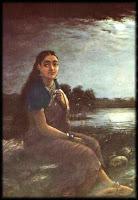 Raja Ravi Verma's Lady in Moonlight NGMA Bangalore