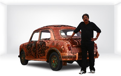 Yusuf Arakkal with his artomobile