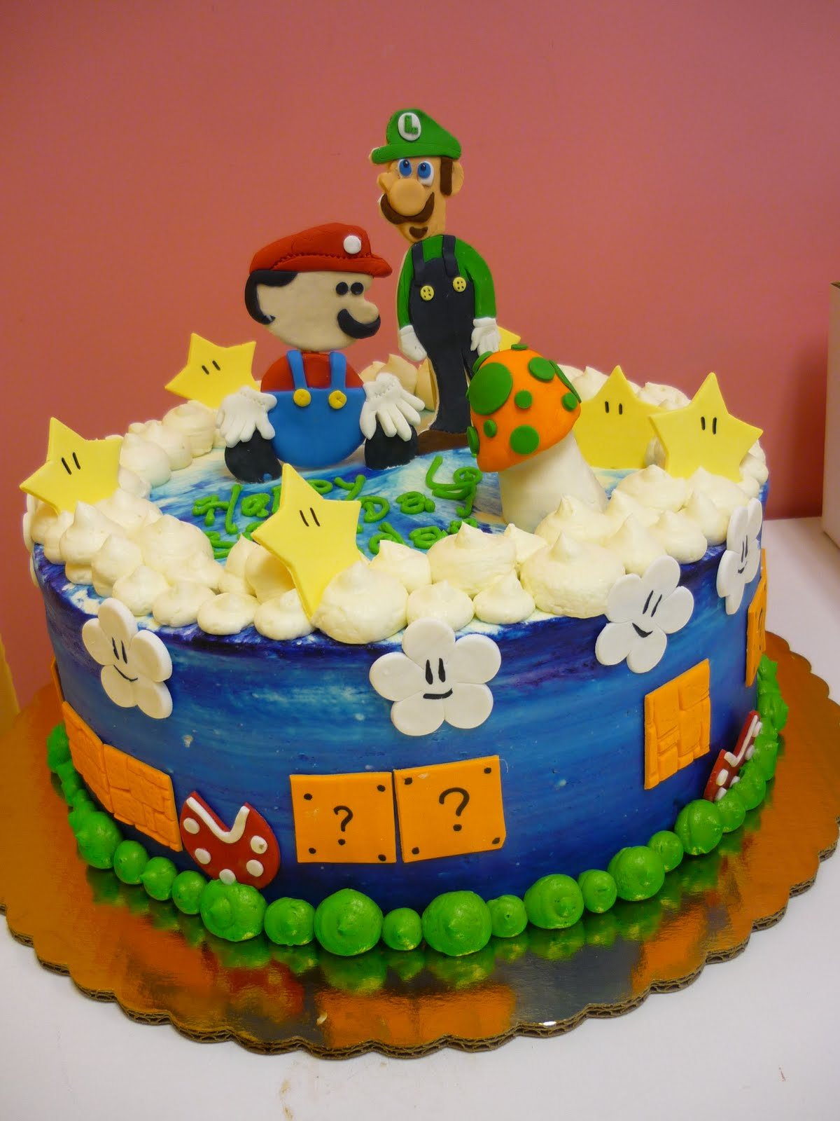 Artisan Bake Shop Kids Buttercream Birthday Cakes Nintendo Super