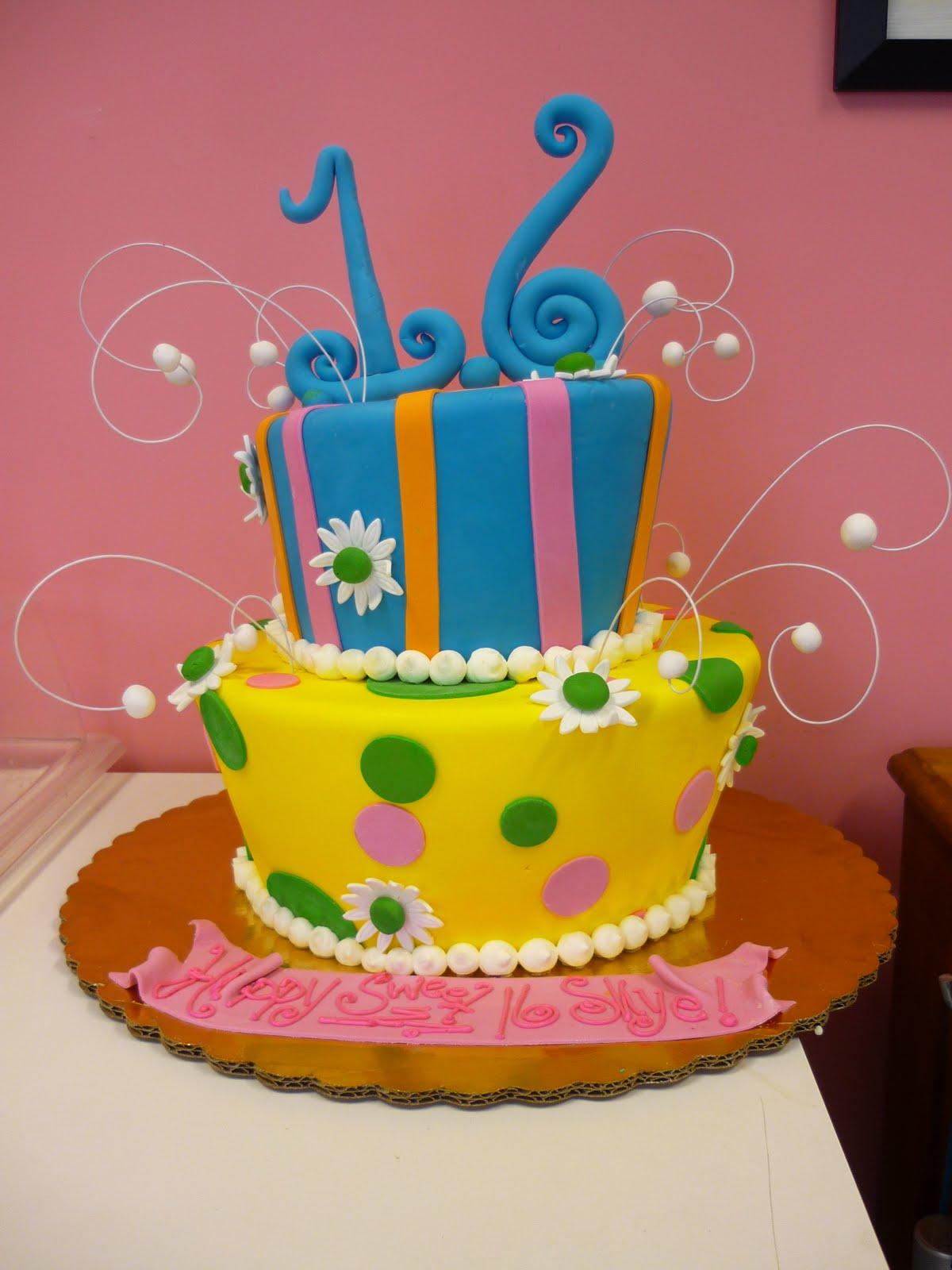 Funky sweet 16 birthday cakes