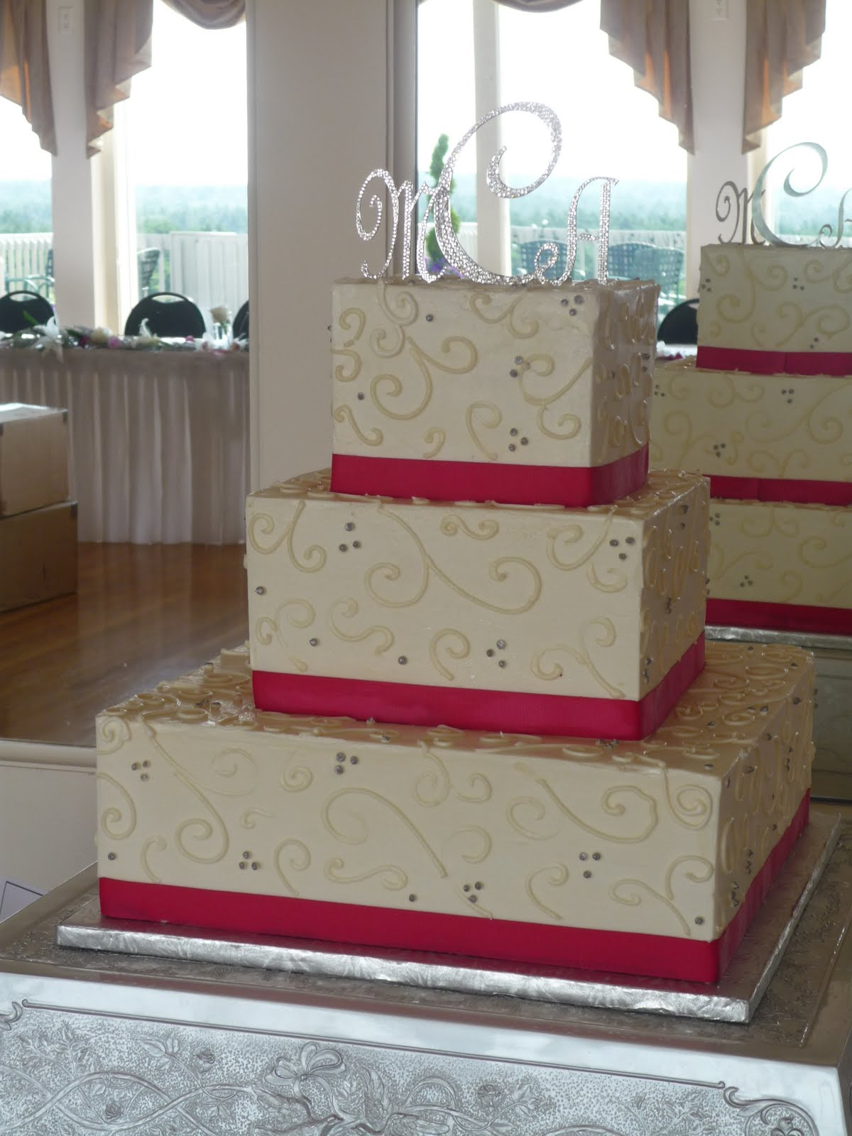 Artisan Bake Shop Wedding Cake Square Buttercream Tiers