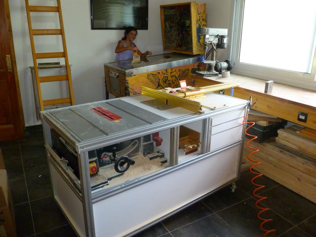 Herramientas y carpinter a mesa incra con perfiles de for Carpinterias de aluminio en argentina