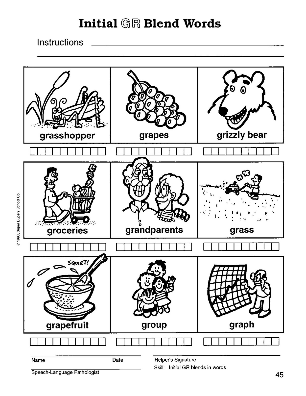 worksheet R Blends Worksheets speech therapy with miss nicole r blend words words