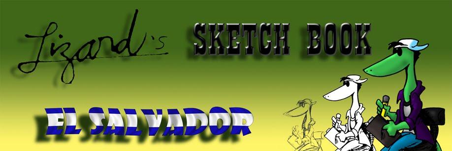Lizard Sketch Book El Salvador