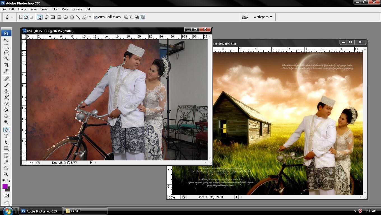 ... pada mage editor seperti photoshop, photo paint , GIMP dan sebagainya