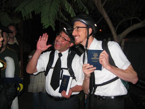 not really mormons just guys dressed up for halloween - Mormon Halloween Costumes