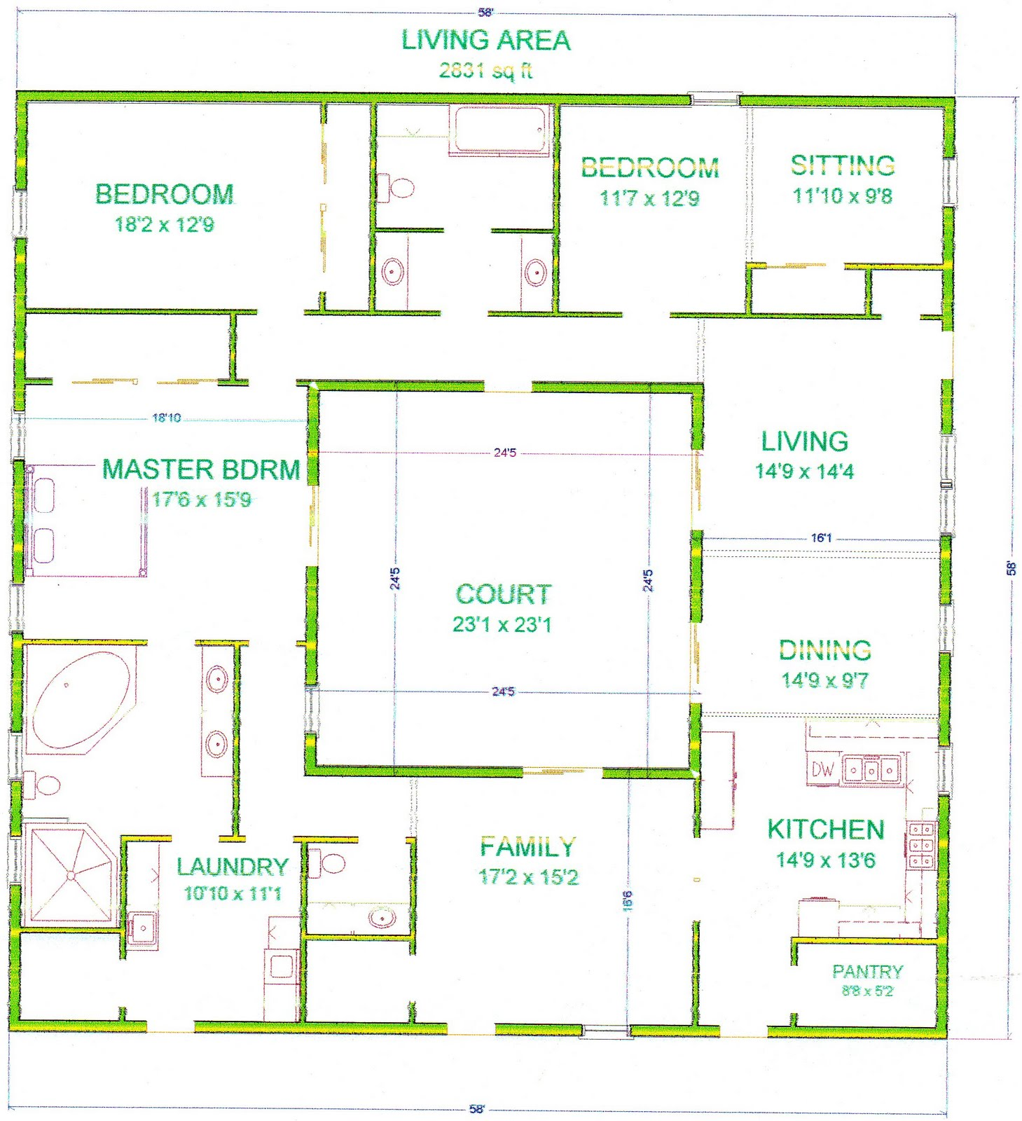 Grama sue 39 s floor plan play land olivia 39 s courtyard for Play plan