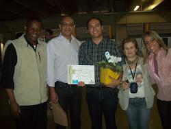 Homenagem dos gestores do CEU Jd. Paulistano ao Prof. Marcelo.