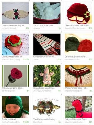 etsy.com red rose crochet