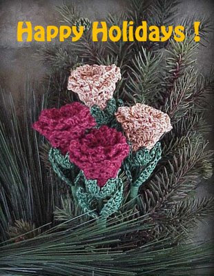 holiday roses crochet