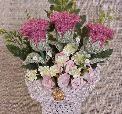 crochet bouquet sale rose