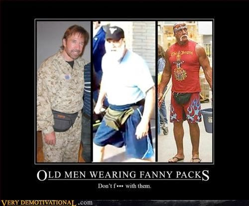 Old Men Wearing Fanny Packs