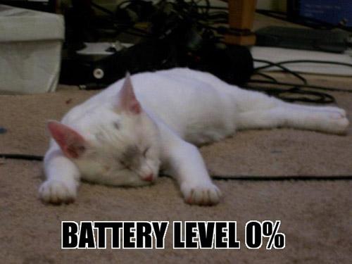BATTERY LEVEL 0%